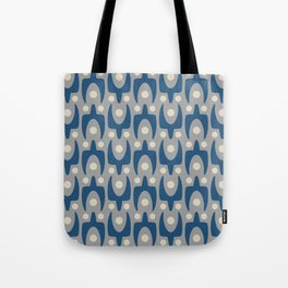 Mid Century Modern Abstract Pattern 147 Gray and Blue Tote Bag