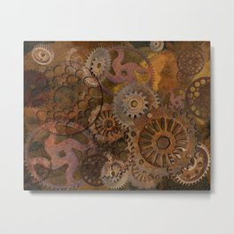 Changing Gear - Steampunk Gears & Cogs Metal Print