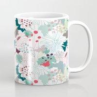 wonderland Mugs featuring Wonderland by Demi Goutte