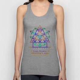 Sacred Geometry for your daily life - METATRON PSYCO Unisex Tank Top