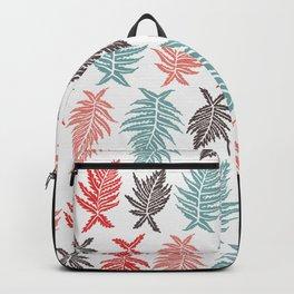Inked Ferns – Red & Green Palette Backpack