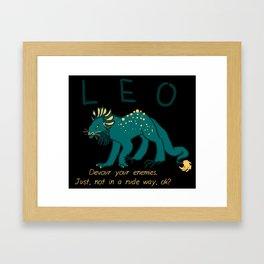 Horrorscopes- Leo Framed Art Print