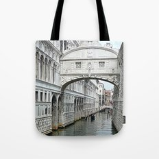 Bridge of sighs in Venice Tote Bag