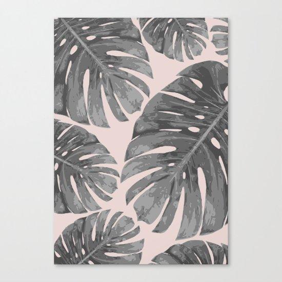 Tropical palm veil Canvas Print