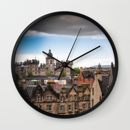 View of Edinburgh architecture from Victoria Street Wall Clock