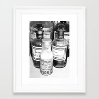 cocaine Framed Art Prints featuring Cocaine  by Emmanuelle Clouzet