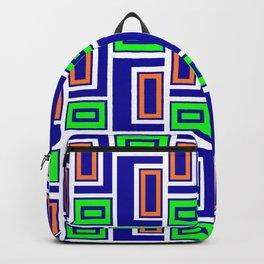 Letter Rectangle Hooks Latches Modern Quilt Backpack
