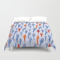 marine Duvet Covers featuring Marine Pattern 02 by Aloke Design