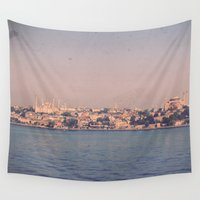 istanbul Wall Tapestries featuring Istanbul From The Sea by ZBOY