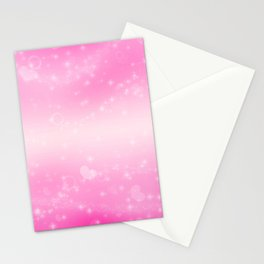 Magic deep pink heart patterned Stationery Cards