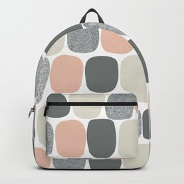 Wonky Ovals in Pink Backpack