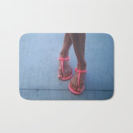 my pink sandals Bath Mat