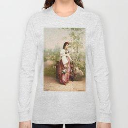 European Peasant girl Long Sleeve T-shirt