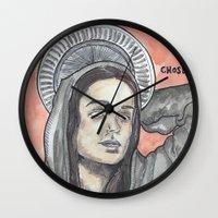 oitnb Wall Clocks featuring Pennsatucky OITNB by Ashley Rowe