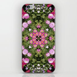 Gerbera And Ranunculus Kaleidoscope iPhone Skin