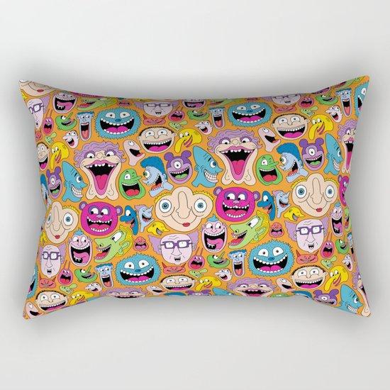 Creepy Smiles Pattern Rectangular Pillow