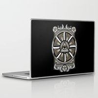 all seeing eye Laptop & iPad Skins featuring All Seeing Eye by Pancho the Macho