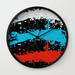 random Splatter Paint Wall Clock