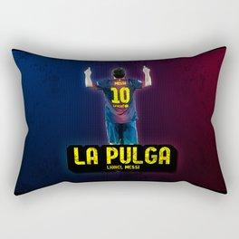 Lionel Messi - La Pulga Rectangular Pillow