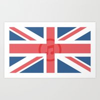 england Art Prints featuring  England by XKbeth