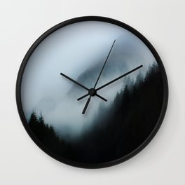 Foggy British Columbia Wall Clock
