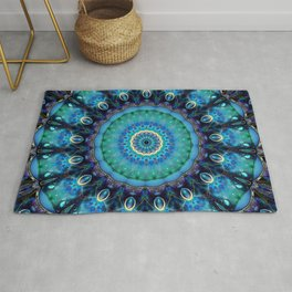 Jewel Of The Ocean Mandala Rug