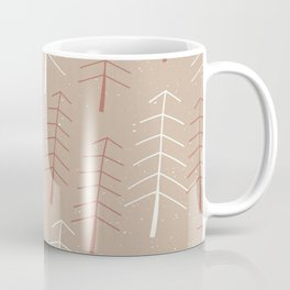 Simple  Snowy Winter Pine Tree Forest Coffee Mug