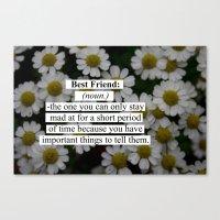 best friend Canvas Prints featuring Best Friend: by Sara Eshak
