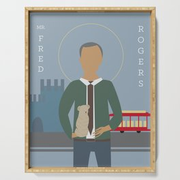 Mr. Rogers Icon Serving Tray