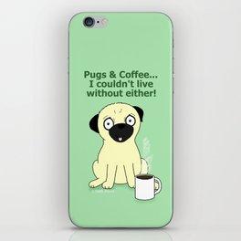 Pugs and Coffee iPhone Skin