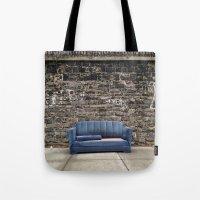 sofa Tote Bags featuring sofa free by danielle marie