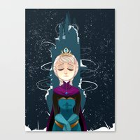 elsa Canvas Prints featuring Elsa by elixiroverdose