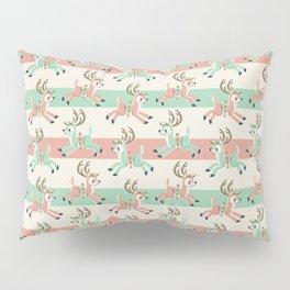 Candy Cane Reindeer Pillow Sham