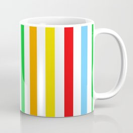 Stripes (Parallel Lines) - Red Blue Green Pink Coffee Mug