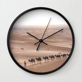Camels in the Sahara Wall Clock