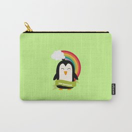 Penguin Rainbow from New Hampshire T-Shirt Carry-All Pouch