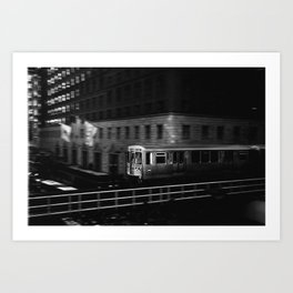 Orange Line II Art Print
