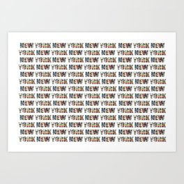 New York (horizontal typography) Art Print