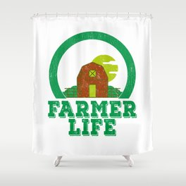 Farmer Life Earth Day 2019 Shower Curtain