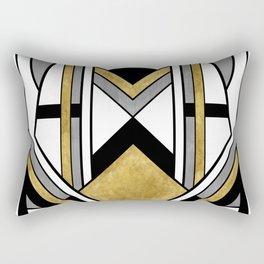 Up and Away - Art Deco Spaceman Rectangular Pillow