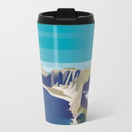 Alone In Nature - Deep Blue Deep View Travel Mug