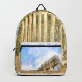 Euromos Ruins Watercolor Backpack