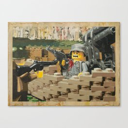 Taking the Bunker Canvas Print