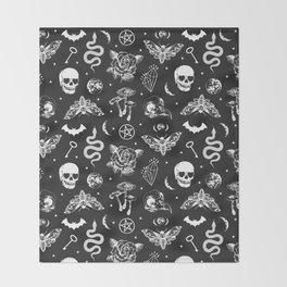 Witchcraft B&W Throw Blanket