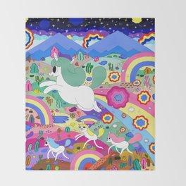 Gary the Farting Unicorn Throw Blanket