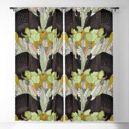 native armadillos gold Blackout Curtain