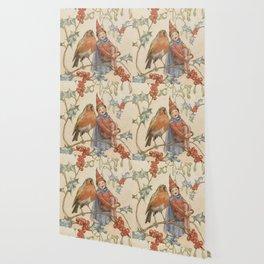 """A Christmas Duet"" by Margaret Tarrant Wallpaper"