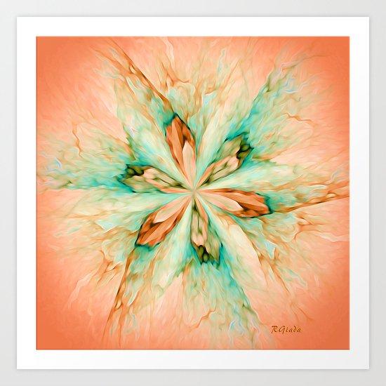 Marble flower Art Print