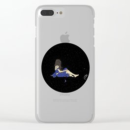 Thoughts in darkness Clear iPhone Case