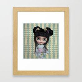 Japanese Doll by Erregiro Framed Art Print